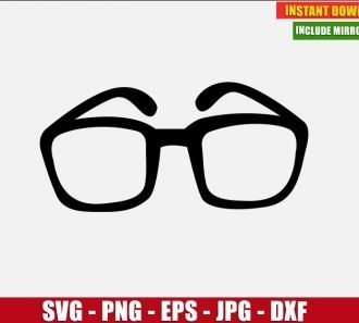 Glasses Free Cut File (SVG dxf png) Freebie Optical Lens Frame Vintage Clipart for Silhouette Cricut Digital Vector Image - Don Vito Design Store