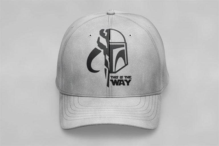 Cap Example - The Mandalorian Helmet Symbol (SVG dxf PNG) Star Wars This is the Way Cut File Silhouette Cricut Vector Clipart - Don Vito Design Store