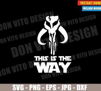 This is the way Mandalorian Clan Logo (SVG dxf PNG) Star Wars Symbol Cut File Silhouette Cricut Vector Clipart - Don Vito Design Store