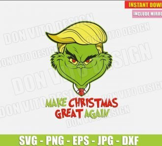 The Grinch Donald Trump Hair (SVG dxf png) Make Christmas Great Again Head Cut File Silhouette Cricut Vector Clipart - Don Vito Design Store
