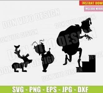 Grinch Climbing Stairs Cindy Lou Max (SVG dxf png) The Grinch Christmas Movie Dog Cut File Silhouette Cricut Vector Clipart - Don Vito Design Store