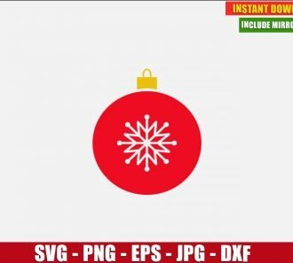 Christmas Tree Ball Free Cut File (SVG dxf png) Freebie Holiday Clipart for Silhouette Cricut Digital Vector Image - Don Vito Design Store