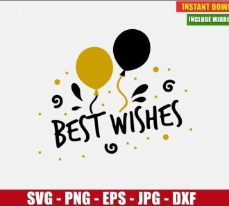 Best Wishes SVG Free New Year Cut File for Cricut and Silhouette Freebie Clipart Vector PNG Image Download Free SVG Design - Don Vito Design Store