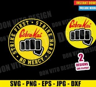 Cobra Kai Fist Dojo Logo (SVG dxf png) Karate Kid No Mercy Strike First Cut File Cricut Silhouette Vector Clipart - Don Vito Design Store