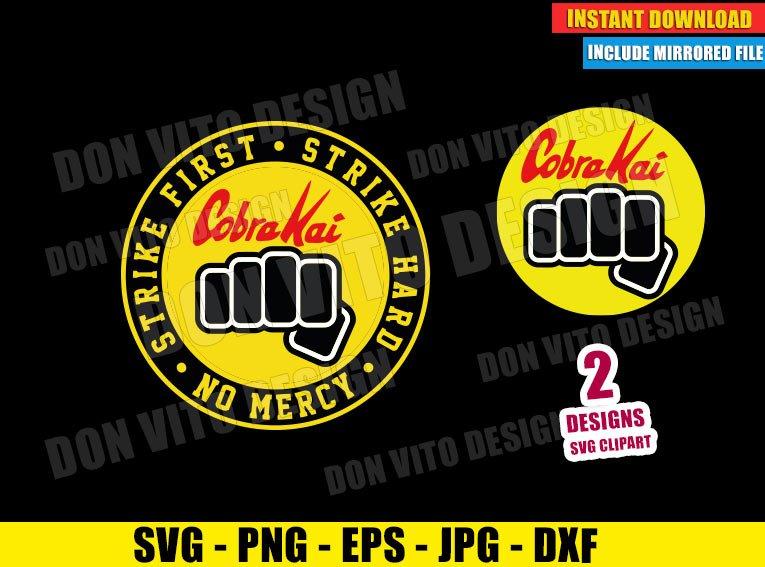 Cobra Kai Fist Dojo Logo (SVG dxf png) Karate Kid No Mercy Strike First Cut File Cricut Silhouette Vector Clipart - Don Vito Design Store
