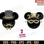 Mickey Minnie Mouse New Year 2021 (SVG dxf png) Disney Happy New Year Party Cut File Silhouette Cricut Vector Clipart Design New Year svg