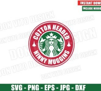 Cotton Headed Ninny Muggins Starbucks (SVG dxf png) Buddy The Elf Coffee Logo Cut File Silhouette Cricut Vector Clipart - Don Vito Design Store