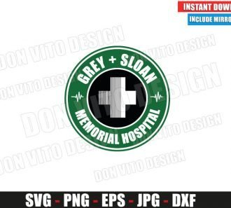 Starbucks Grey Sloan Memorial Hospital (SVG dxf png) Coffee TV Show Logo Cut File Silhouette Cricut Vector Clipart - Don Vito Design Store