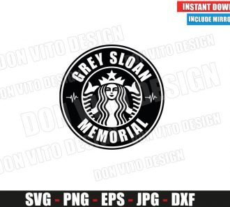 Grey Sloan Memorial Starbucks Logo (SVG dxf png) Coffee TV Show Cut File Silhouette Cricut Vector Clipart - Don Vito Design Store