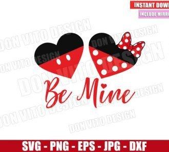 Minnie Mickey Heart Be Mine (SVG dxf png) Disney Love Cut File Cricut Silhouette Vector Clipart - Don Vito Design Store