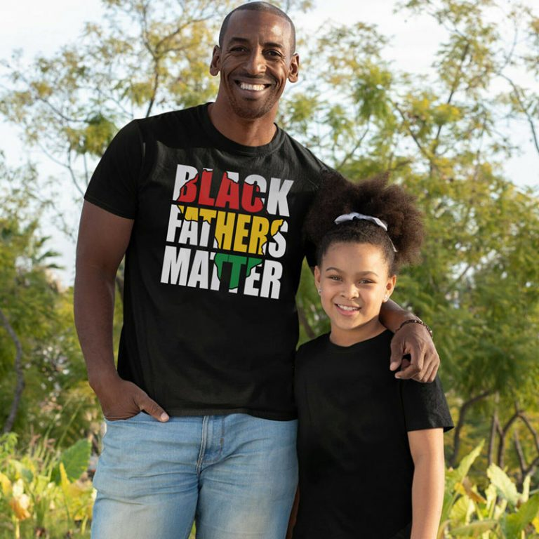 T-Shirt Example - Black Fathers Matter (SVG dxf png) Africa Map Father's Day Cut File Cricut Silhouette Vector Clipart