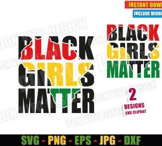 Black Girls Matter (SVG dxf png) Africa Map Girl Cut File Cricut Silhouette Vector Clipart - Don Vito Design Store