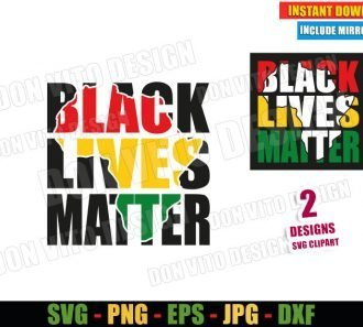 Black Lives Matter (SVG dxf png) Africa Map Cut File Cricut Silhouette Vector Clipart - Don Vito Design Store