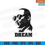 Martin Luther King with Sunglasses (SVG dxf png) MLK DREAM Quote Cut File Cricut Silhouette Vector Clipart Design Martin Luther King svg