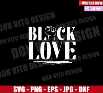 Fist Black Love (SVG dxf png) Couple Black Love Matters Cut File Cricut Silhouette Vector Clipart - Don Vito Design Store