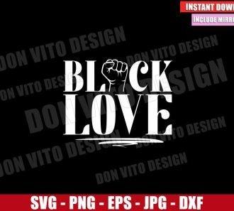 Fist Black Love (SVG dxf png) Couple Black Love Matters Cut File Cricut Silhouette Vector Clipart - Don Vito Design Store