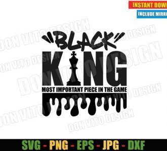 Black King Chess (SVG dxf png) Most Important Piece in the Game Cut File Cricut Silhouette Vector Clipart - Don Vito Design Store