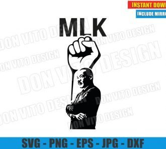 MLK Fist of Power (SVG dxf png) Dr Martin Luther King Jr Day Cut File Cricut Silhouette Vector Clipart - Don Vito Design Store