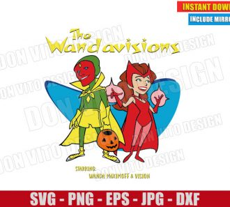 he Wandavisions (SVG dxf png) Disney Tv Show 50s Wanda Vision Cut File Cricut Silhouette Vector Clipart - Don Vito Design Store