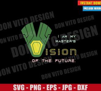Vision WandaVision (SVG dxf png) Disney Marvel Tv Show Cut File Cricut Silhouette Vector Clipart - Don Vito Design Store