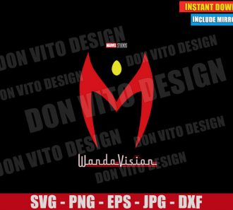 Wandavision Logo Scarlett Witch (SVG dxf png) Disney Tv Show Cut File Cricut Silhouette Vector Clipart - Don Vito Design Store