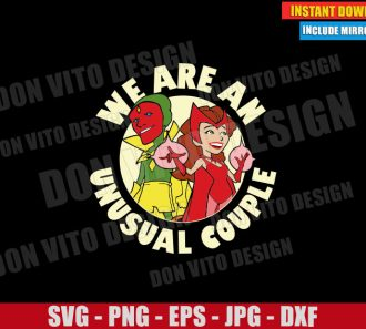 We are an Unusual Couple (SVG dxf png) Scarlet Witch The Vision Tv Show 50s Cut File Cricut Silhouette Vector Clipart - Don Vito Design Store