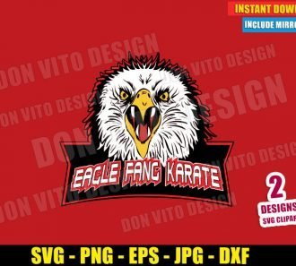 Eagle Fang Karate (SVG dxf png) Cobra Kai Dojo Logo Karate Kid Cut File Cricut Silhouette Vector Clipart T-Shirt