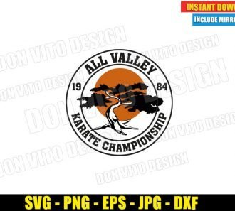 All Valley Championship Miyagi Do (SVG dxf png) Karate Kid Bonsai Tree Dojo Logo Cut File Cricut Silhouette Vector Clipart - Don Vito Design Store