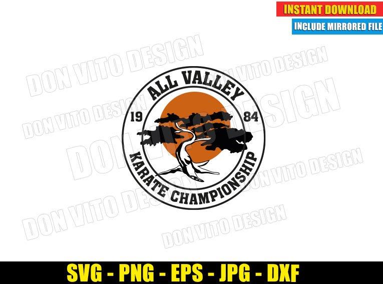 All Valley Championship Miyagi Do (SVG dxf png) Karate Kid Bonsai Tree Dojo Logo Cut File Cricut Silhouette Vector Clipart - Don Vito Design Store