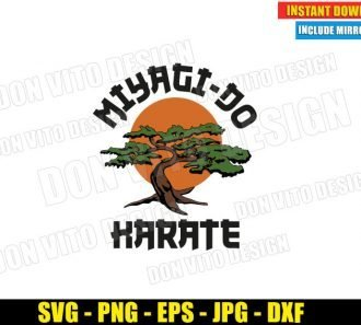 Miyagi Do Karate Bonsai Logo (SVG dxf png) Karate Kid Movie Tree Mr Miyagi Cut File Cricut Silhouette Vector Clipart - Don Vito Design Store
