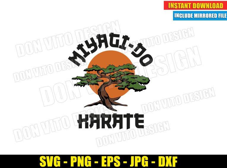 Miyagi Do Karate Bonsai Logo (SVG dxf png) Karate Kid Movie Tree Mr Miyagi Cut File Cricut Silhouette Vector Clipart - Don Vito Design Store