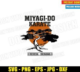 Miyagi Do Karate Reseda Okinawa (SVG dxf png) Karate Kid Bonsai Tree Dojo Logo Cut File Cricut Silhouette Vector Clipart - Don Vito Design Store