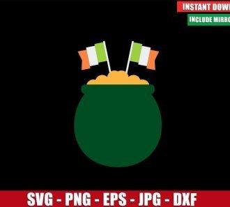 Irish Pot of Gold SVG Free Cut File for Cricut Silhouette Freebie St Patricks Day Clipart - Don Vito Design Store