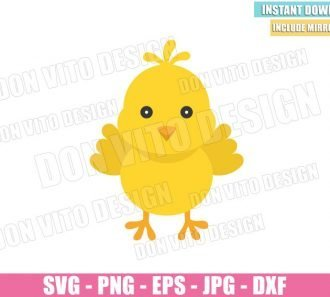 Easter Chick (SVG dxf png) Cute Baby Chicken Cut File Cricut Silhouette Vector Clipart - Don Vito Design Store