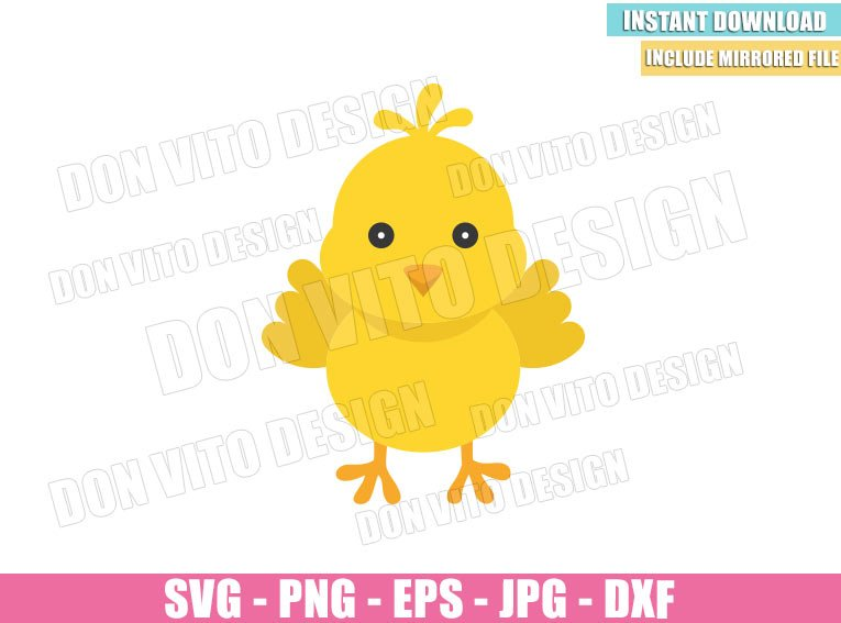 Easter chick SVG for cricut Happy Easter SVG for nursery decor Chick silhouette print for t-shirt