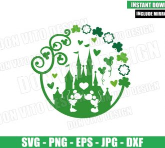 Disney Castle of Luck (SVG dxf png) Mickey Minnie Mouse Kiss Cut File Cricut Silhouette Vector Clipart - Don Vito Design Store