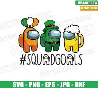 Irish Among Us Squadgoals (SVG dxf png) St Patrick Day Beer Balloon Cut File Cricut Silhouette Vector Clipart - Don Vito Design Store
