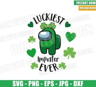 Luckiest Imposter Ever (SVG dxf png) Game St Patricks Day Shamrock Cut File Cricut Silhouette Vector Clipart - Don Vito Design Store