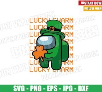 Lucky Charm Among Us (SVG dxf png) Game St Patrick Day Cut File Cricut Silhouette Vector Clipart - Don Vito Design Store