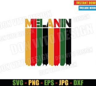 Melanin Africa Colors (SVG dxf png) African American Black History Cut File Cricut Silhouette Vector Clipart - Don Vito Design Store