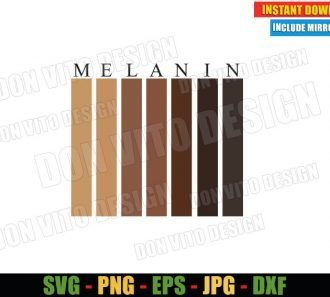 Melanin Black People (SVG dxf png) Africa Black Woman Melanin Cut File Cricut Silhouette Vector Clipart - Don Vito Design Store
