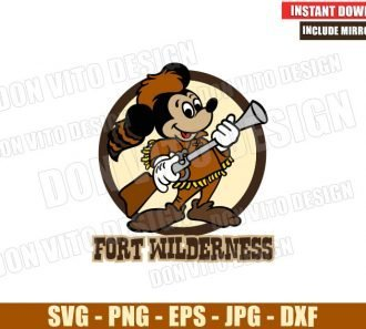 Mickey Mouse Fort Wilderness (SVG dxf png) Camp Resort Logo Cut File Cricut Silhouette Vector Clipart - Don Vito Design Store