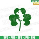 Mickey Mouse Shamrock (SVG dxf png) Disney Irish Lucky Clover Cut File Cricut Silhouette Vector Clipart Design St Patrick Day svg