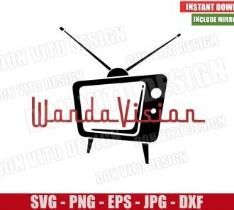 Retro TV Show Wandavision (SVG dxf png) Marvel Logo Cut File Cricut Silhouette Vector Clipart - Don Vito Design Store