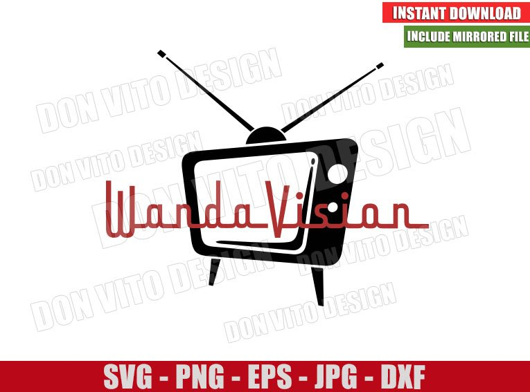 Retro TV Show Wandavision (SVG dxf png) Marvel Logo Cut File Cricut Silhouette Vector Clipart - Don Vito Design Store