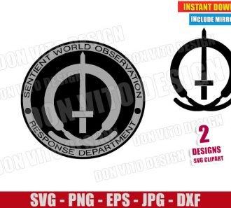 Wandavision SWORD Logo (SVG dxf png) Marvel Wanda Vision Cut File Cricut Silhouette Vector Clipart - Don Vito Design Store