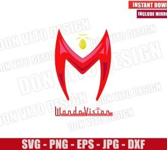 Wandavision Headpiece Mind Stone (SVG dxf png) Marvel Logo Cut File Cricut Silhouette Vector Clipart - Don Vito Design Store
