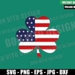Shamrock USA Flag (SVG dxf png) Lucky United States Cut File Cricut Silhouette Vector Clipart Design St Patricks Day svg