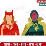Vision Wanda Costume (SVG dxf png) Halloween Scarlet Witch Marvel Cut File Cricut Silhouette Vector Clipart 2 Designs WandaVision svg