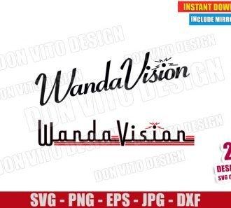 Wandavision Logos (SVG dxf png) Disney Marvel Wanda Vision Logo Cut File Cricut Silhouette Vector Clipart - Don Vito Design Store